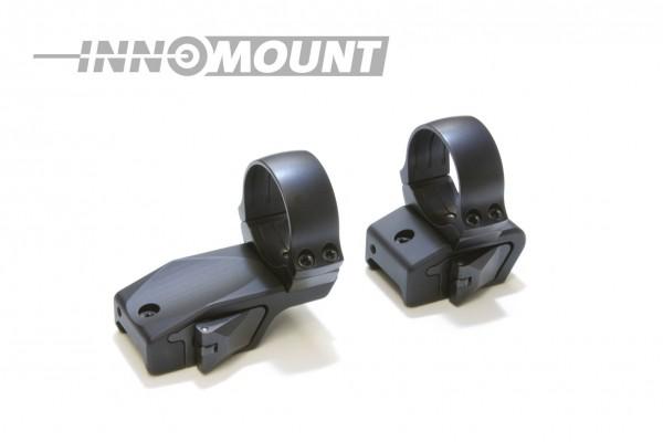Schnellspannmontage - für Weaver/Picatinny zweiteilig gekröpft - Ring 36mm BH+6