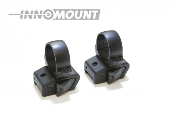 Schnellspannmontage - für Weaver/Picatinny zweiteilig - Ring 26mm BH+3
